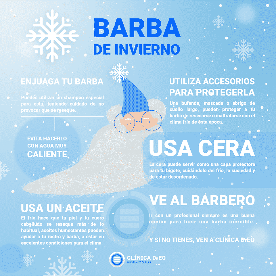 Winter Beard Infographic